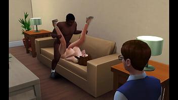 Возбуждённая мадам наконец получает член промеж ног